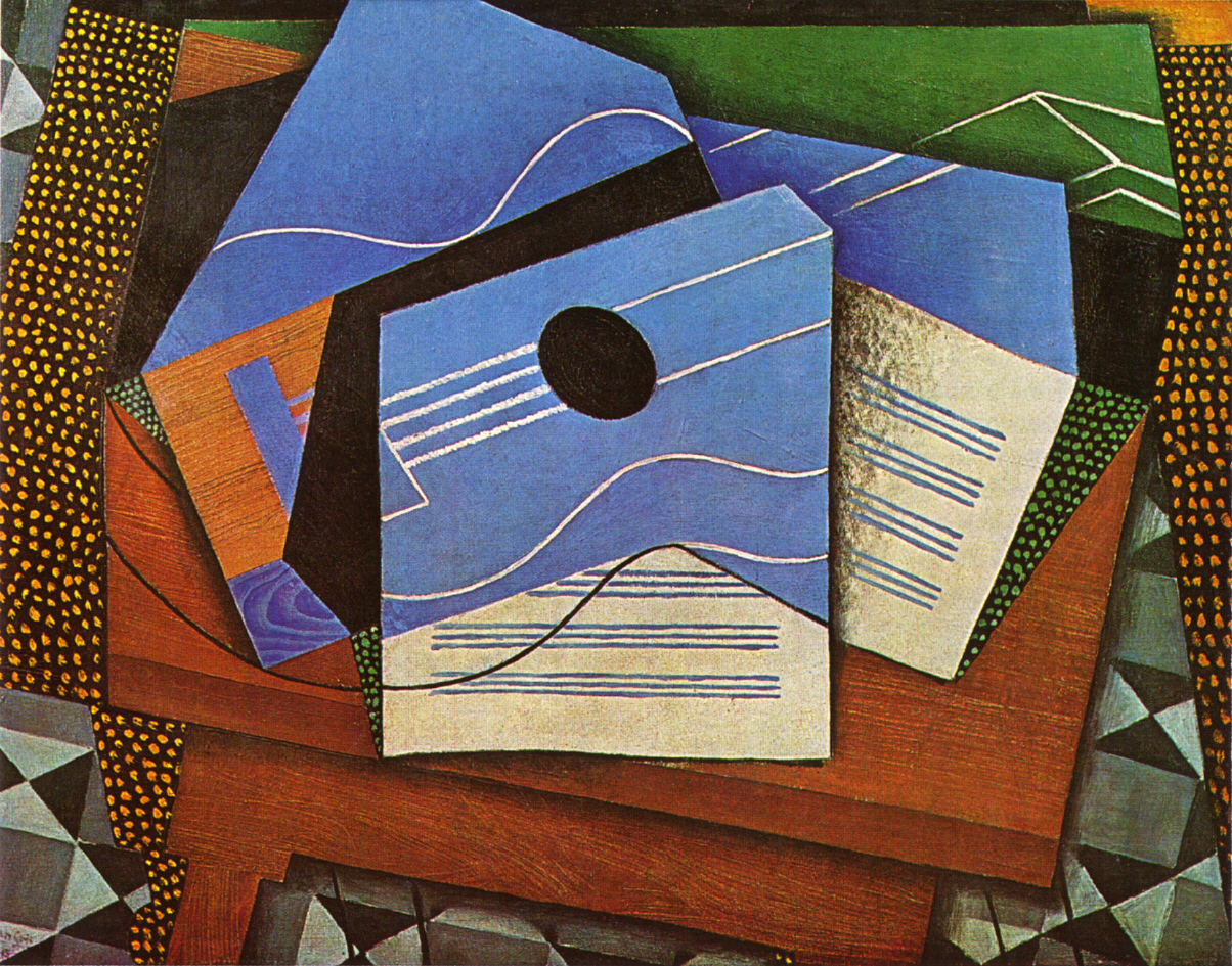 juan gris gitarre auf einem tisch 1915. Black Bedroom Furniture Sets. Home Design Ideas